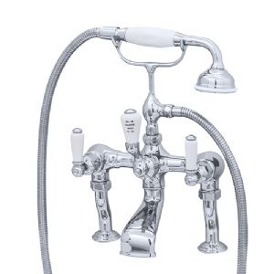3500/1 Perrin & Rowe Bath Shower Mixer Tap And Pillar Unions Lever